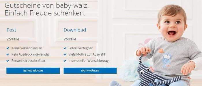 Baby Walz Geschenkgutscheine
