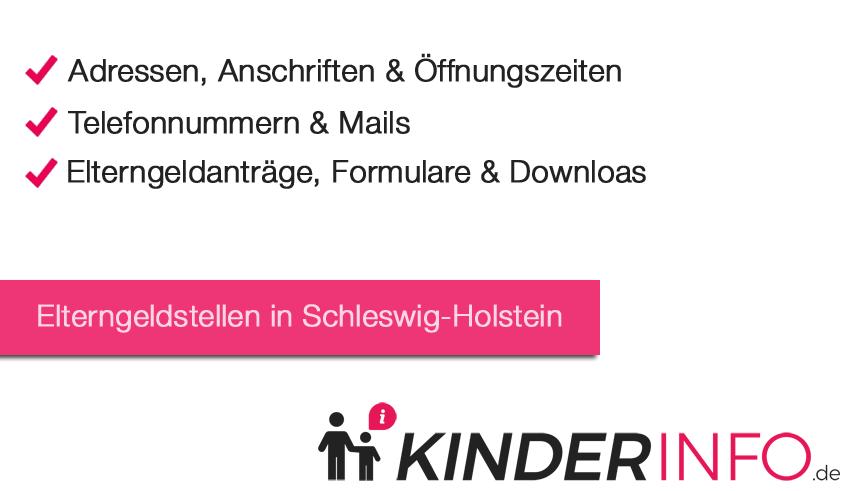 Elterngeldstellen in Schleswig-Holstein