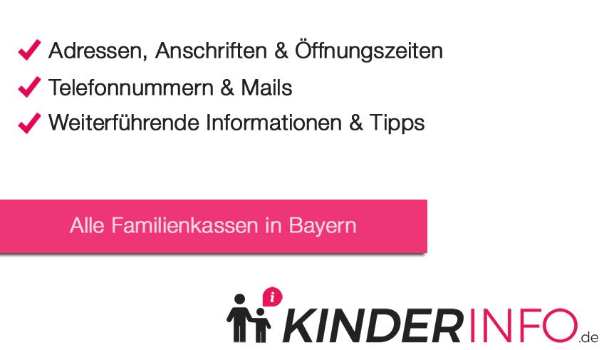 Familienkassen in Bayern