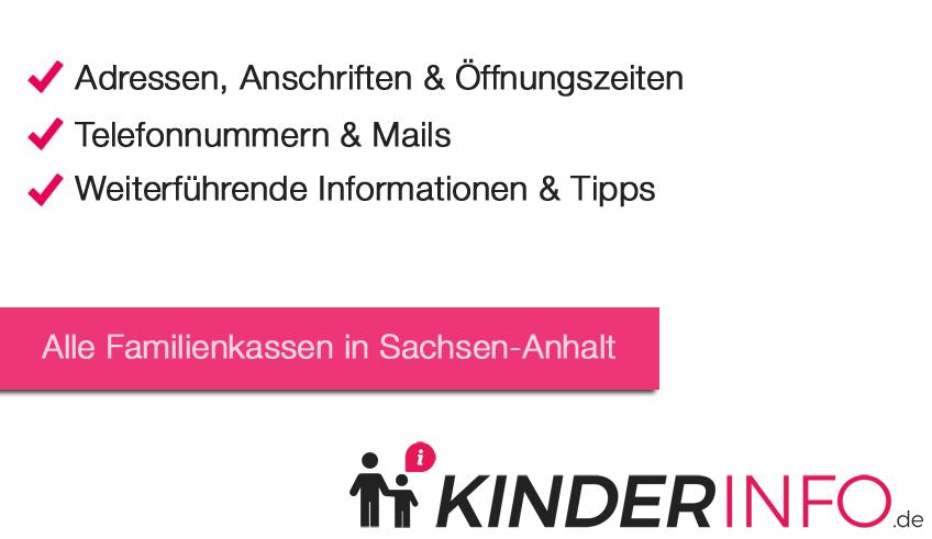 Familienkassen in Sachsen-Anhalt