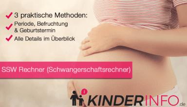 SSW Rechner - Schwangerschaftsrechner - Geburtsterminrechner